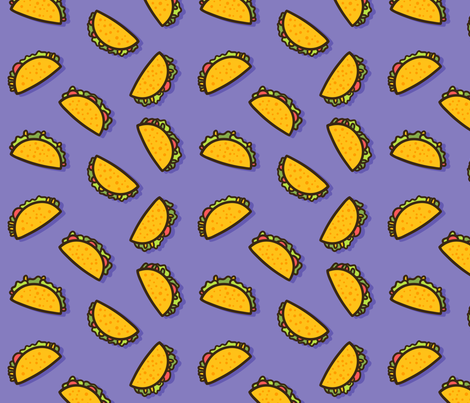 Taco Party - Purple fabric by heatherhightdesign on Spoonflower - custom fabric