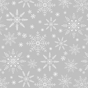 Snowflakes - gray silver