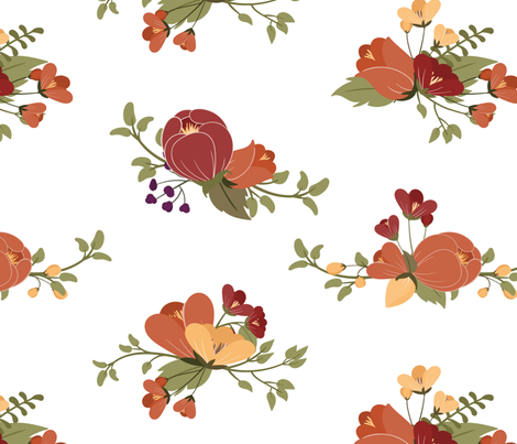 FS Fall Flowers fabric by fern&sterling on Spoonflower - custom fabric