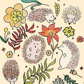 Hedgehogs Field in Cream