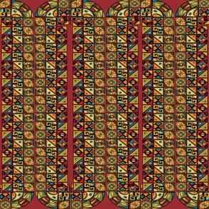 Native American Symbols Rich Colors