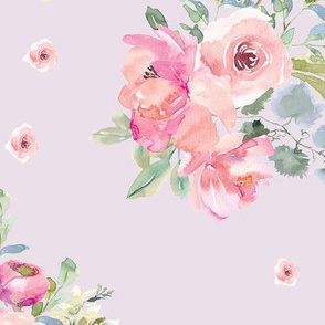 """12"""" Blushing Beauty Florals // Twilight Lavender"""
