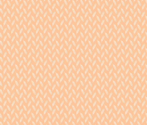 peach_leaves_pattern fabric by inotra on Spoonflower - custom fabric