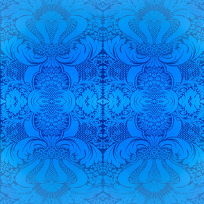 Damask in Blue