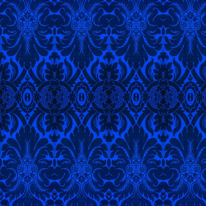 Damask in Deep Blue