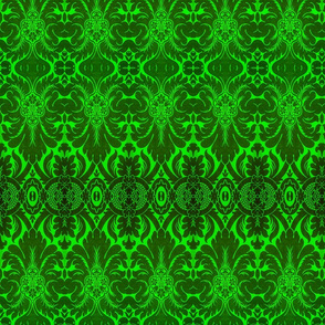 Damask in Green