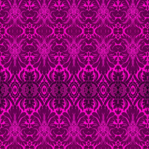 Damask Pattern in Magenta