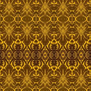 Damask Pattern in Yellow