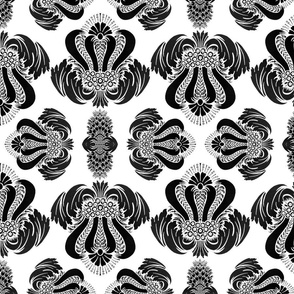 Damask in Black and White