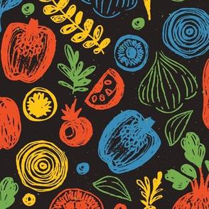 Doodle vegetables