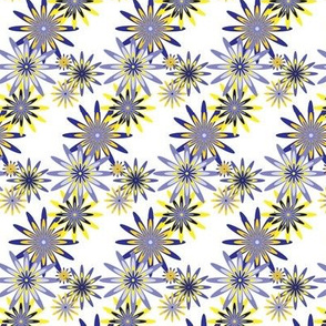 sixties flowers small - blue 2
