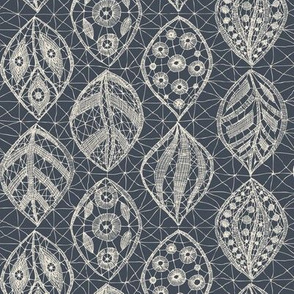 Lace Leaves - Natural, Midnight