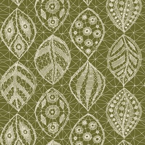 Lace Leaves - Natural, Olive