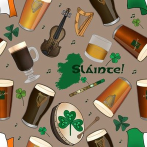 Irish Pub (khaki background)