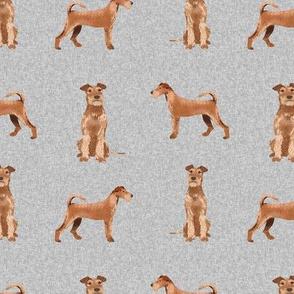 irish terrier dog - dog quilt e - cute dog, dogs, dog breed, dog fabric, linen-look, - grey