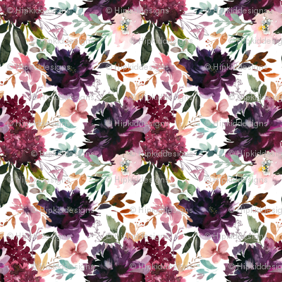 "8"" Whisper Fall Florals // White"