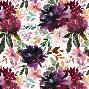 "12"" Whisper Fall Florals // Peep Blush"