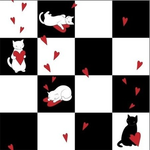 Cat Love Checkers
