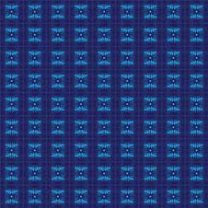 Blue Foil Mosaic Tile