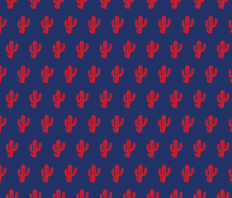 Phish Cacuts Red and Blue DIM-01 fabric by khaus on Spoonflower - custom fabric