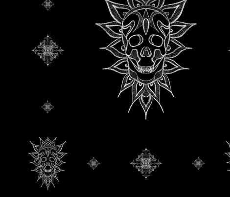 Skulls & Lace fabric by farkas_illustrations on Spoonflower - custom fabric