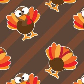 THANKSGIVING Turkey With Stripes Brown StripesThanksgiving Funny CUTE