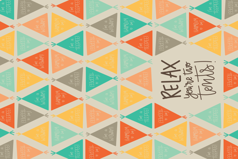 I'm a Teepee I'm a Wigwam Pun Tea Towel fabric by megannorrell on Spoonflower - custom fabric