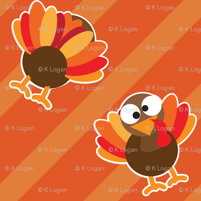 THANKSGIVING Turkey With Stripes Orange Thanksgiving Funny CUTE