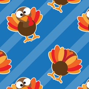 THANKSGIVING Turkey With Stripes Thanksgiving Funny CUTE