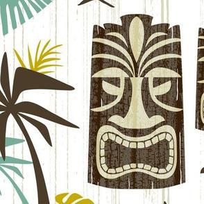 Island Tiki - White Jumbo Scale