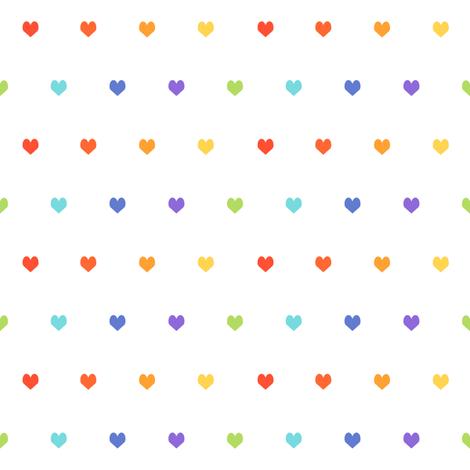 rainbow hearts - heart, hearts, girls, girl, baby, nursery, valentines - cute original fabric by charlottewinter on Spoonflower - custom fabric