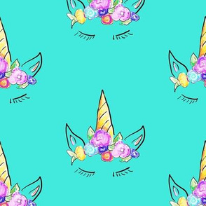 Rainbow Unicorns // Turquoise