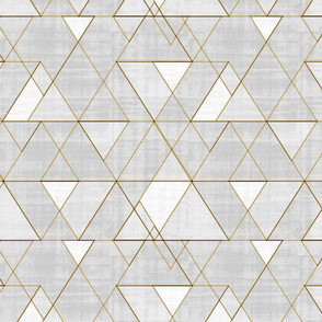 Mod Triangles Lt Gray and gold