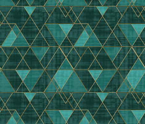 Mod Triangles Emerald Teal fabric by crystal_walen on Spoonflower - custom fabric