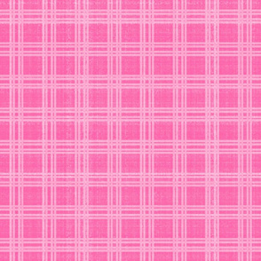 Pink Plaid, Elegant Holiday, XL