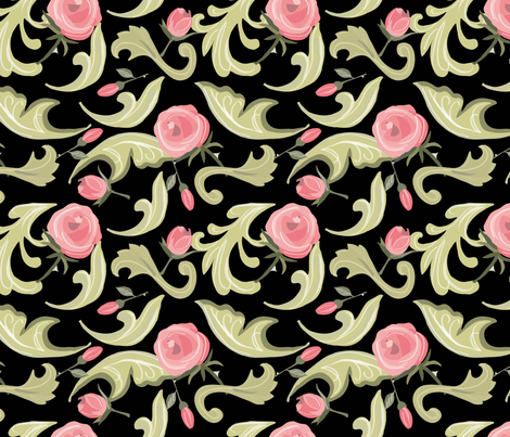 Victorian Roses fabric by cathleenbronsky on Spoonflower - custom fabric
