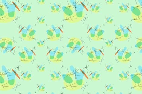 Midcentury Modern fabric by farkas_illustrations on Spoonflower - custom fabric