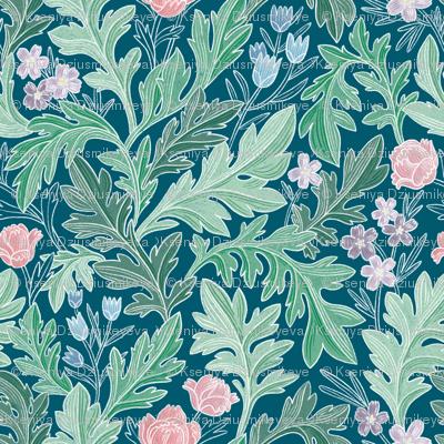 Victorian vintage floral pattern