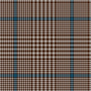 "Prince of Wales check #2, 5"" repeat, brown/blue/taupe"