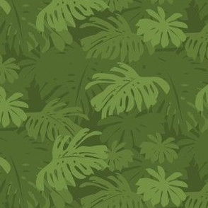 Jungle Leaves - Green Dark