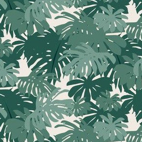 Jungle Leaves - Teal Light
