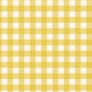 Yellow Gold Check Gingham Plaid Buffalo Traditional _ Miss Chiff Designs