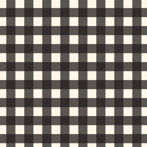 Black Cream Off White Buffalo Check Gingham Plaid Traditional _ Miss Chiff Designs