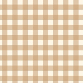 "Beige Brown Khaki Cream Gingham Plaid Buffalo Check Neutral Home Decor Traditional 1/2"" Squares _ Miss Chiff Designs"
