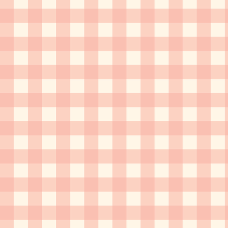 "Blush Peach Pink on Cream Off White Buffalo Check Gingham Plaid Neutral Home Decor Traditional 1/2"" Squares _ Miss Chiff Designs fabric by misschiffdesigns on Spoonflower - custom fabric"