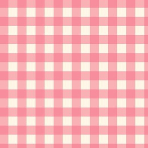 "Pink on Cream Off White Buffalo Check Gingham Plaid Neutral Home Decor Traditional 1/2"" Squares _ Miss Chiff Designs"