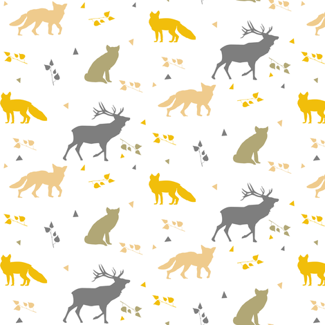 forest mixed colours fabric by potyautas on Spoonflower - custom fabric