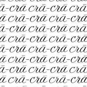 Words Font Calligraphy black white crazy Cra-cra _ Miss Chiff Designs