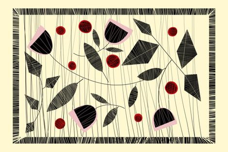 RETRO BAR TEA TOWEL fabric by yasminah_combary on Spoonflower - custom fabric