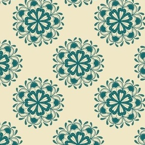 Mandala Flowers (Teal)
